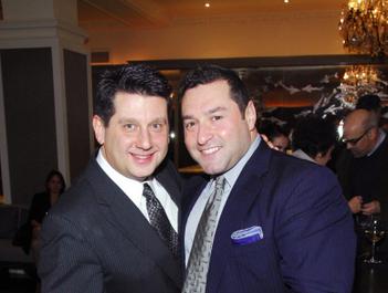 Allan Watts and Gennaro Pecchia at Harlow Restaurant. (Photo: McMullan)