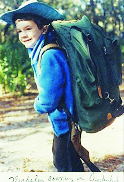 The author as a young adventurer! (This also explains his current posture problems.)