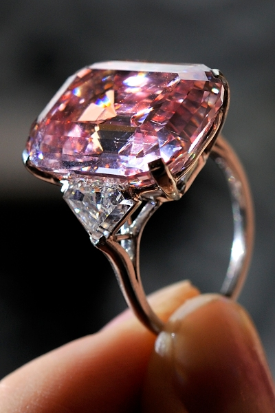 For something extra feminine, opt for a pink diamond.