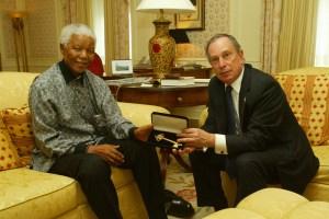 Mayor Michael Bloomberg and Nelson Mandela in 2005. (Photo: NYC Mayor's Office)