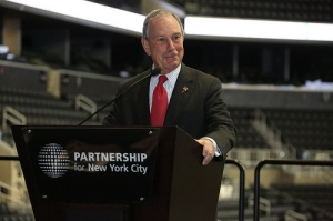 Mayor Michael Bloomberg at the Barclays Center today. (Photo: NYC Mayor's Office)