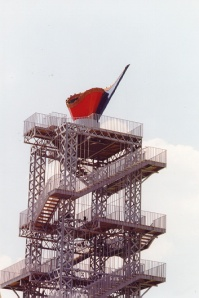 The 1996 Olympic Cauldron in Atlanta, Ga., designed by Mr. Armajani. (Courtesy videoworldart.com)