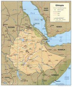 A map of Ethiopia. (Courtesy U.S. Central Intelligence Agency)