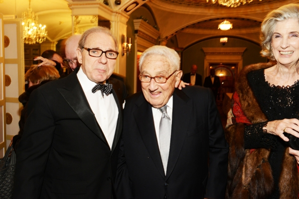 Roger Hertog, Henry and Nancy Kissinger.
