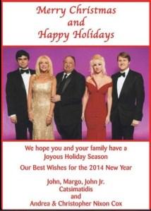 The Catsimatidis family's Christmas card.