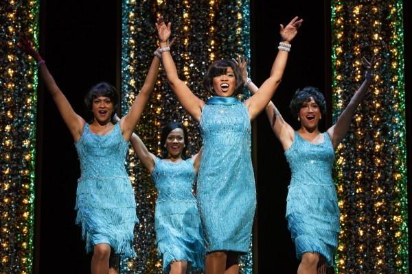The Shirelles (Carly Hughes, Alysha Deslorieux, Rashidra Scott, and Ashley Blanchet, from left,) in 'Beautiful.'