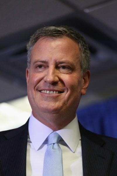 Mayor-elect Bill de Blasio. (Photo by Getty Images)