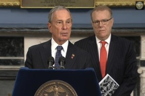Mayor Michael Bloomberg at his last anti-gun press conference in office. (Photo: nyc.gov)
