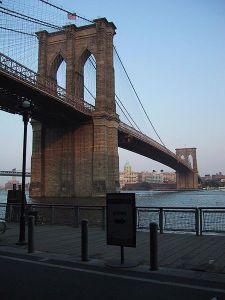The Brooklyn Bridge. (Photo via Wikimedia Commons)