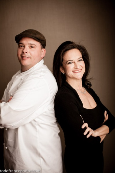Chef David Malbequi and owner Georgette Farkas.