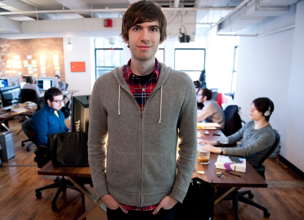 David Karp and his minions (Photo: Don Emmert/AFP/Getty Images)