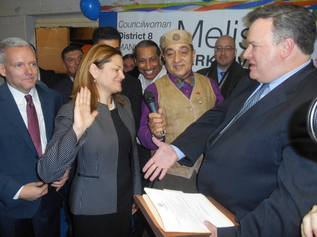Councilwoman Melissa Mark-Viverito is sworn in for a third term.