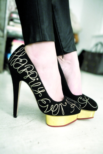 Anyone will look like a fairy tale heroine in these Charlotte Olympia shoes.