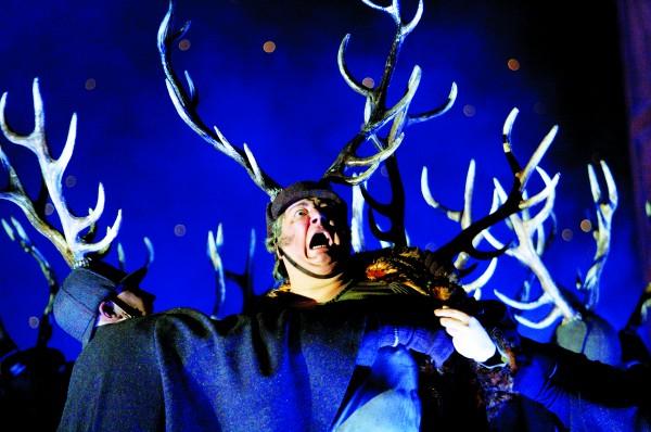 Ambrogio Maestri as Falstaff. (Photo by Catherine Ashmore)