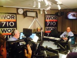 The mayor's last radio show. (Photo: Twitter/@NYCMayorsOffice)