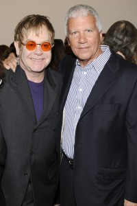 Larry Gagosian with Elton John. (Courtesy Patrick McMullan)