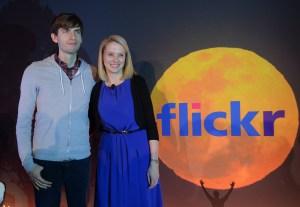 Buddies! Yahoo CEO Marissa Mayer and Tumblr founder David Karp. (Photo: EMMANUEL DUNAND/AFP/Getty Images)
