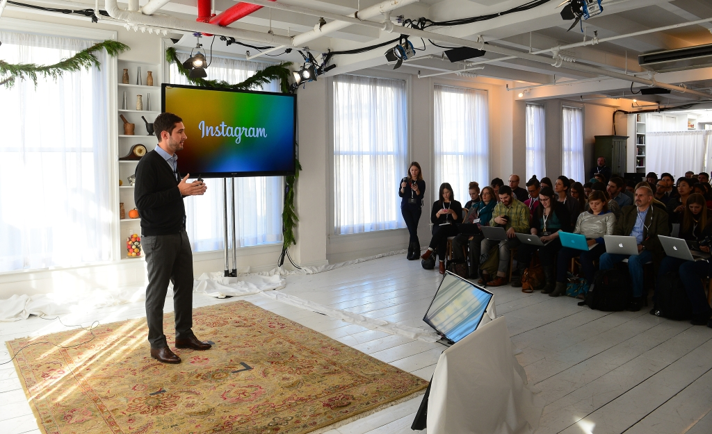 Kevin Systrom addresses the unwashed masses. (Photo: Getty)