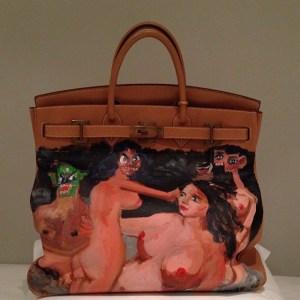 Kim Kardashian's new George Condo Birkin bag. (Photo by KimKardashian/Instagram)