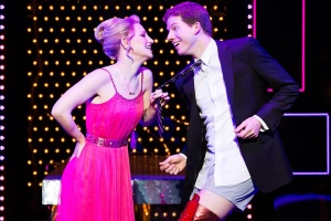 Annaleigh Ashford and Stark Sands in 'Kinky Boots.'