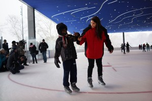 Ice skating at LeFrak. (Photo by Getty Images)