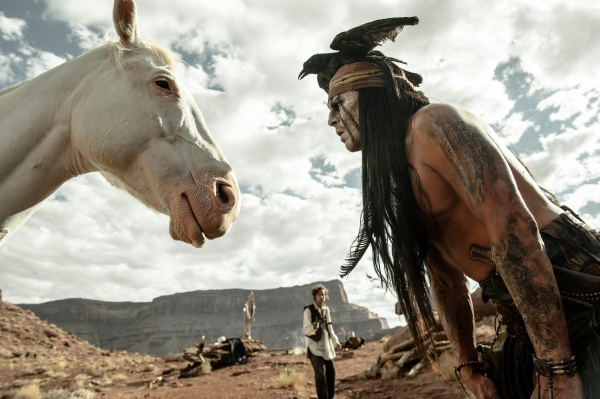 Johnny Depp as Tonto in The Lone Ranger.