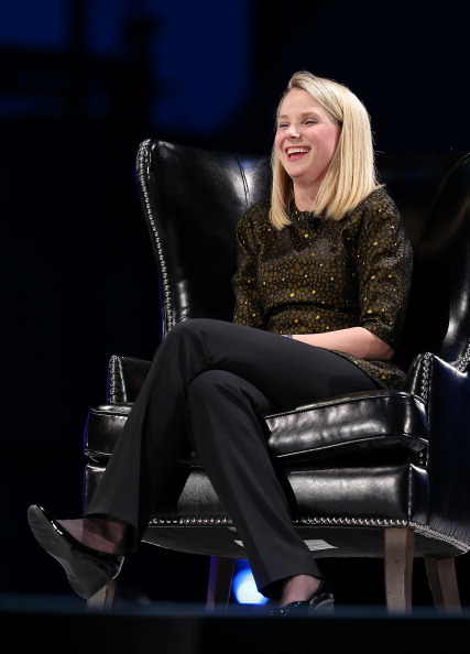 LOL Marissa Mayer's not telling you her plan (Photo: Justin Sullivan/Getty Images)