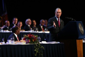 Mayor Michael Bloomberg delivers final speech of his administration. (Photo: SOURCE)