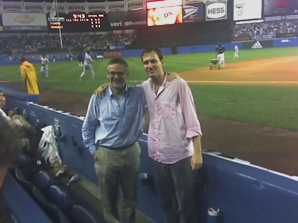 Editor and publisher, soaked at Yankee Stadium, fall 2006. (Photo courtesy of The New York Observer)