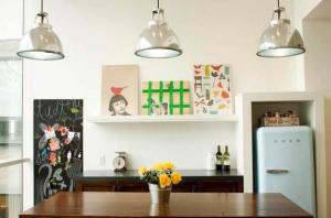 Airbnb's kitschy new kitchen. (Photo: Airbnb)