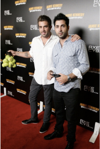 Mr. Mateen (r) with Lauren Conrad ex, Jason Wahler, clearly networking. (Photo: Getty)