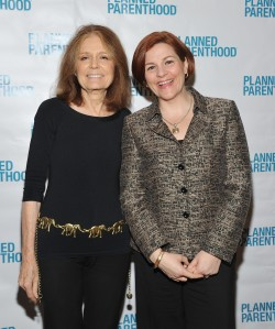 Gloria Steinem and Christine Quinn at a 2012 Planned Parenthood gala. (Photo: Mike Coppola/Getty Images)