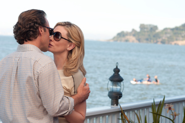 Peter Sarsgaard kisses a delusional Cate Blanchett in  Blue Jasmine.