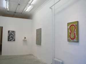 Installation view of 'Thomas Kovachevich: Shadows and Other Paintings' at CFA in 2011. (Courtesy CFA)