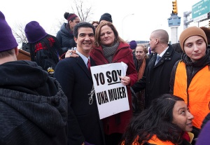 Councilman Ydanis Rodriguez with Speaker Melissa Mark-Viverito.