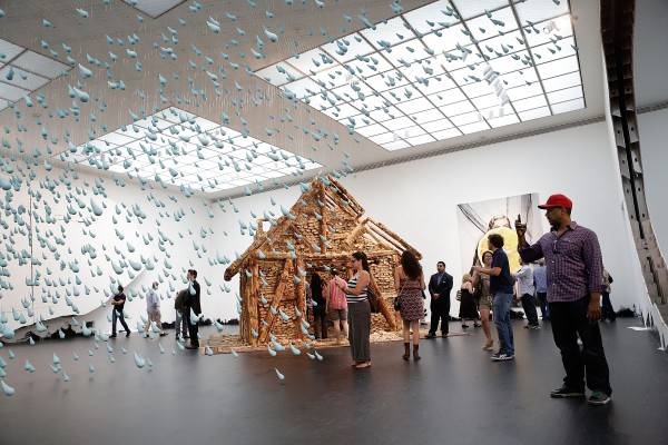 Installation view of MOCA's 2013 Urs Fischer show. (Getty Images)