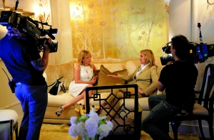 Ramona Singer and Sonja Morgan. (Photo by Mike Coppola/Getty Images)
