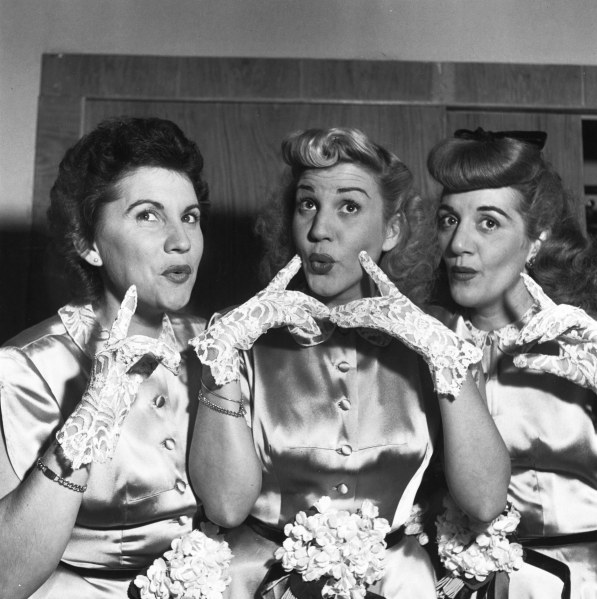 Patty Andrews, center, of the Andrews Sisters. (Photo by Chris Ware/Keystone Features/Getty Images)