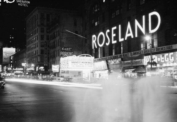 The Roseland Ballroom in its original location on 51st Street and Broadway in the 1940s. (Photograph via Getty)
