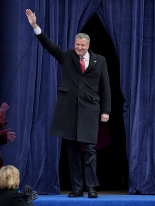 Bill de Blasio at his inauguration, which was funded by transition donors. (Photo: Stan Honda/Getty)