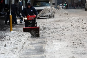 Snow removal in Manhattan last week. (Photo: Getty)