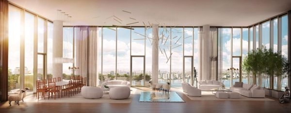 Penthouse rendering, complete with livestock