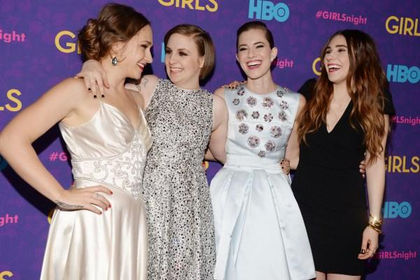 Jemima Kirke, Lena Dunham, Allison Williams and Zosia Mamet, from left.