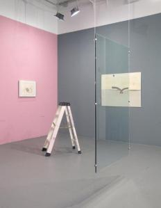 Installation view with works by Sanchez, Yao, Conrad and McCarthy. (Courtesy White Columns)