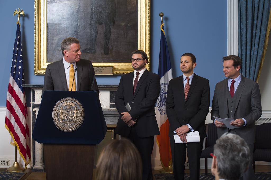 Mayor Bill de Blasio announcing a recent round of appoaintemnts(Photo: Rob Bennett for the Office of Mayor Bill de Blasio)