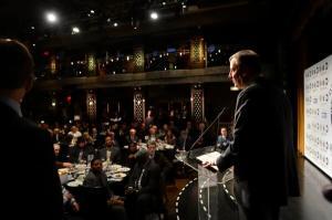 Bill de Blasio at the awards this morning.
