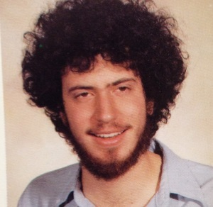 A college yearbook photo of a then-very groovy looking Bill de Blasio .