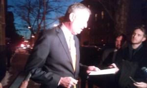 Bill de Blasio at today's briefing.