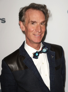 Bill Nye at a DWTS wrap party because sure why not. (Photo: Getty)