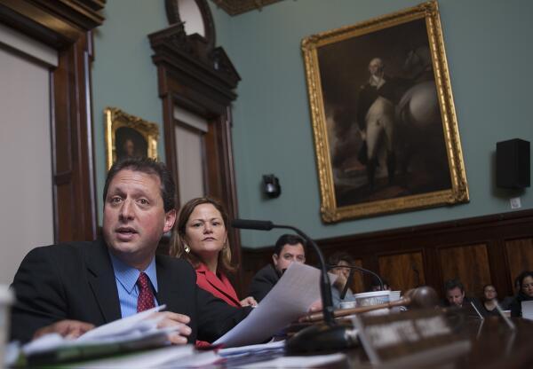 Councilman Brad Lander and Speaker Melissa Mark-Viverito at today's hearing. (Photo: William Alatriste/NYC Council)